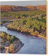 San Juan River At Sunrise Wood Print