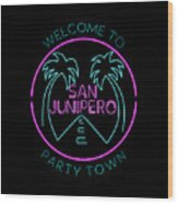 San Junipero Wood Print