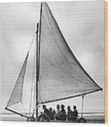 Sand Yachting Wood Print