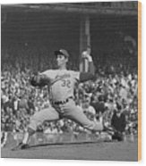 Sandy Koufax Pitching In World Series Wood Print