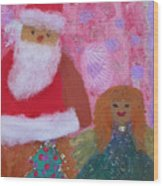 Santa Claus And Guardian Angel - Pintoresco Art By Sylvia Wood Print