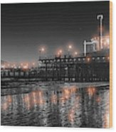 Santa Monica Glow By Mike-hope Wood Print