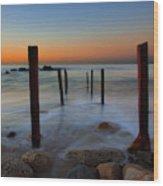 Santa Monica Sunrise Wood Print