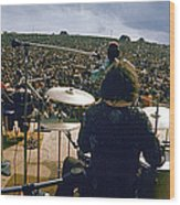 Santana Onstage At Woodstock Wood Print