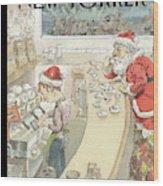 Santa's Little Helper Wood Print