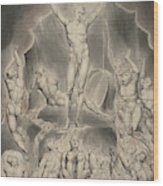 Satan Calling Up His Legions Wood Print