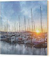 Sausalito California Morning Airs Wood Print