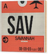 Sav Savannah Luggage Tag I Wood Print