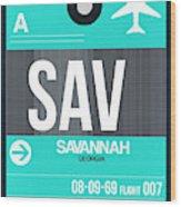 Sav Savannah Luggage Tag II Wood Print