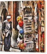 Scanno, Strada Abrami Wood Print