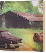 Scenes From The Past - Trucks And Tractors Wood Print