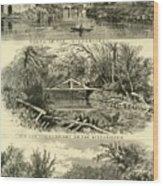 Scenes On The Wissahickon Wood Print