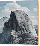 Scenic View Of Rock Formations, Half Wood Print
