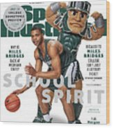 School Spirit 2017-18 College Basketball Preview Issue Sports Illustrated Cover Wood Print