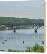 Schuylkill River View - Strawberry Mansion Bridge Wood Print