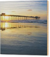 Scripps Pier Golden Hour 1 Wood Print