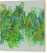 Sea Lettuce Creature Wood Print