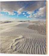 Sea Of Sand - Endless Dunes At White Sands New Mexico Wood Print