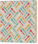 Seamless Cute Pattern With Color Wood Print