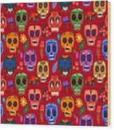 Seamless Pattern-mexican Day Of The Wood Print