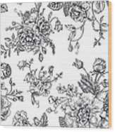 Seamless  Pattern With Bouquet Of Wood Print