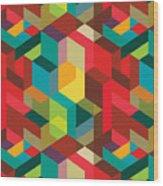 Seamless Pattern With Decorative Wood Print