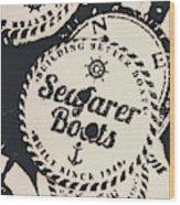 Seaside Sailors Badge Wood Print