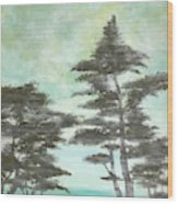 Seaside  Wood Print