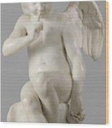 Seated Cupid, 1757 Marble Wood Print