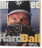 Seattle Mariners Randy Johnson, 1997 Mlb Baseball Preview Sports Illustrated Cover Wood Print