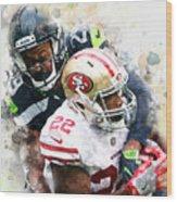 Seattle Seahawks Against San Francisco 49ers Wood Print