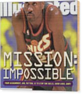 Seattle Supersonics Gary Payton, 1996 Nba Western Sports Illustrated Cover Wood Print
