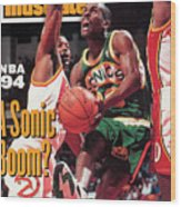 Seattle Supersonics Gary Payton... Sports Illustrated Cover Wood Print