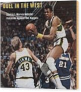 Seattle Supersonics Marvin Webster, 1978 Nba Western Sports Illustrated Cover Wood Print