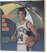 Seattle Supersonics Paul Westphal, 1980 Nba Baseball Preview Sports Illustrated Cover Wood Print