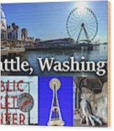 Seattle Washington Waterfront 02 Wood Print