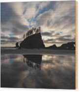 Second Beach Seastack Clarity Wood Print