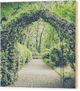 Secret Garden In Vintage Style Wood Print