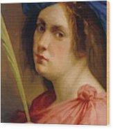 Self Portrait As A Female Martyr 1615 Wood Print