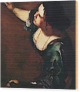 Self Portrait As The Allegory Of Painting 1639 Wood Print