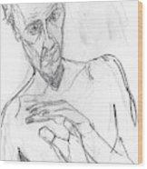 Self-portrait Pencil Reach 11 Wood Print