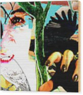 Self Portrait Unafraid Wood Print