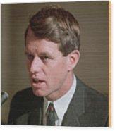 Senator Robert Kennedy Addressing Wood Print