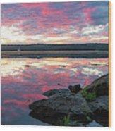 September Dawn At Esopus Meadows I - 2018 Wood Print