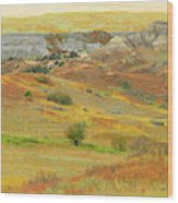 September In The Realm Of West Dakota Wood Print
