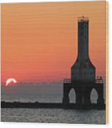September Sunrise In Port Washington 1 Wood Print