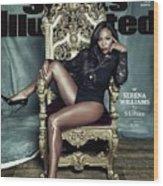 Serena Williams, 2015 Sportsperson Of The Year Sports Illustrated Cover Wood Print