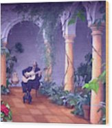 Sergovia In A Spanish Garden Wood Print