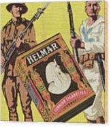 Servicemen Advertising Helmar Cigarettes Wood Print