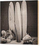 Seventies Surfing Wood Print